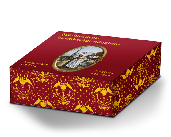 Baumkuchen in Geschenkverpackung